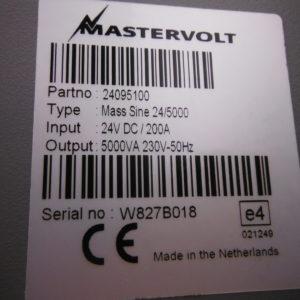Mastervolt Mass combi Sinewave 24v/5000w Inverter/charger