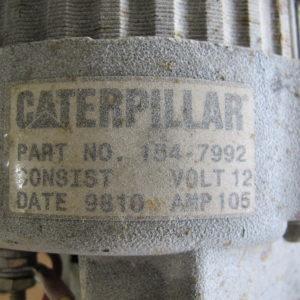 Catepillar 12 Volt DC Altenator 105 Amps